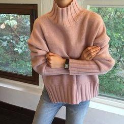 Dasim - 小高領粗織毛衣