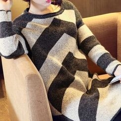 anzoveve - Chevron Long Sweater