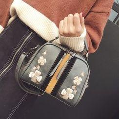 优尚良品 - 碎花刺绣单肩包