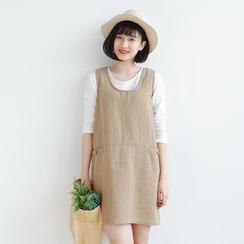 Forest Girl - Sleeveless Linen Dress