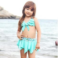 Zeta Swimwear - Set: Kids Bikini Top + Swim Skirt