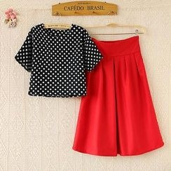 Ringnor - Set: Polka-Dot T-Shirt + Skirt