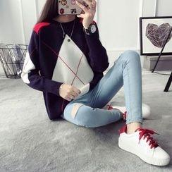 Qimi - Check Long Sweater