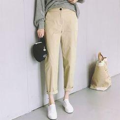 Moon City - Plain High Waist Pants