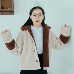 Hanayoshi - Faux-Fur Button Coat