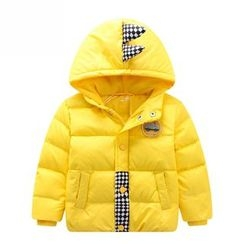 Endymion - Kids Car Embroidered Hooded Down Jacket