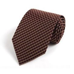 Xin Club - Check Silk Neck Tie (8cm)