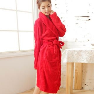 Angel Romance - Tie-Waist Fleece Robe