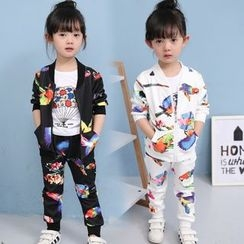 Merry Go Round - Kids Set: Print Zip Jacket + Sweatpants
