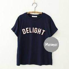 Meimei - Embroidered Short Sleeve T-shirt