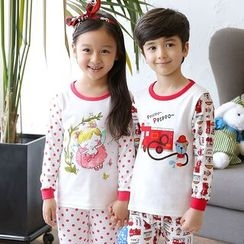 Aquafaba - Kids Pajama Set: Long-Sleeve Print T-Shirt + Pants