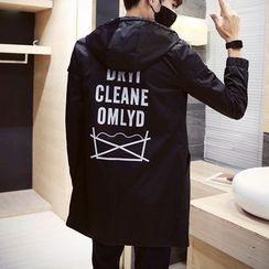 DUKESEDAN - Printed Back Hooded Long Coat