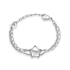 Kenny & co. - Share Of Love Lucky Star Steel Bracelet