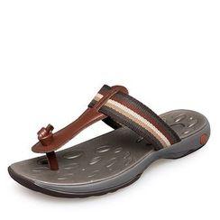 EnllerviiD - Genuine-Leather Thong Slide Sandals