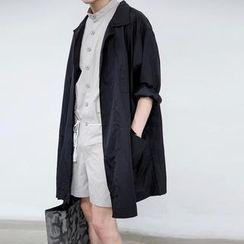 JUN.LEE - Oversized Open-front Light Jacket