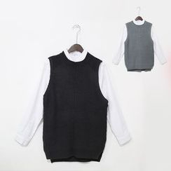 Mr. Cai - Long Knit Vest