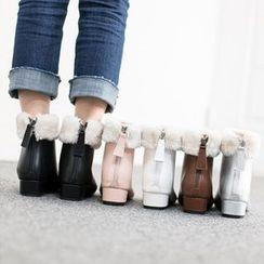 VIVIER - Faux-Fur Ankle Boots