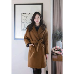 MyFiona - Double-Breasted Coat with Sash