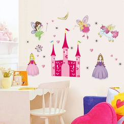 LESIGN - Kids Princess Print Wall Sticker