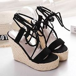 Mancienne - Lace-Up Sandals