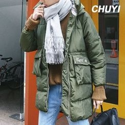 Chuoku - Hooded Padded Long Coat