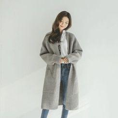 JUSTONE - Wool Blend Mélange Long Cardigan