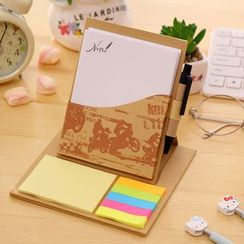 Color Station - Set: Notepad + Pen + Memo Stickers