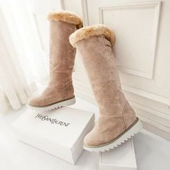 Pastel Pairs - Furry Fleece Tall Boots