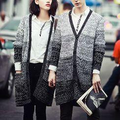 Bay Go Mall - Couple Matching Gradient Cardigan