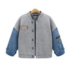 AGA - Denim Panel Woolen Jacket