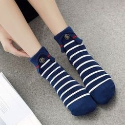 NECTARY - Striped / Lace Trim Socks