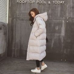 Cocofield - Hooded Padded Long Coat