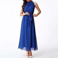 Rebecca - Halter Chiffon Maxi Dress