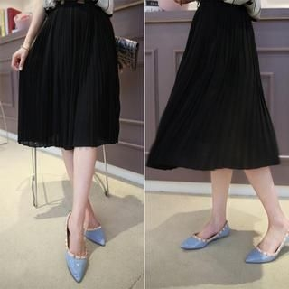 Small Mosquitoes - Pleated Chiffon Skirt