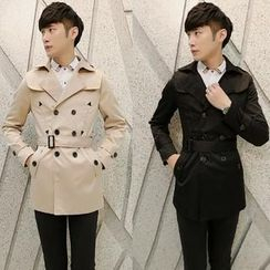 Bay Go Mall - Double-Breast Trench Coat