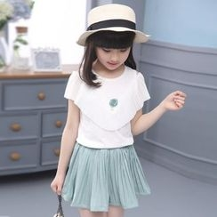 Famula - Set: Kids Ruffled Top + Shorts