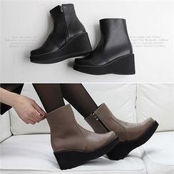 Reneve - Wedge-Heel Short Boots