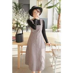 PPGIRL - Check-Patterned Sleeveless Dress