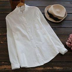 YOYO - Ruffled Long-Sleeve Shirt