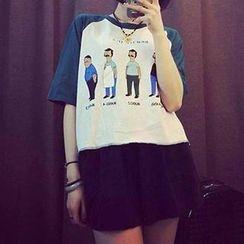 Eva Fashion - Short Sleeves Print T-shirt