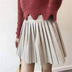 ANTEM - Plain Pleated Mini Skirt