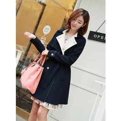 CLICK - Double-Breasted Trench Coat