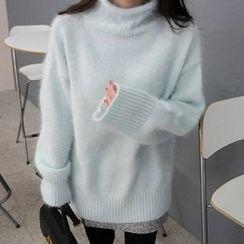 Emeline - High Neck Oversized Sweater