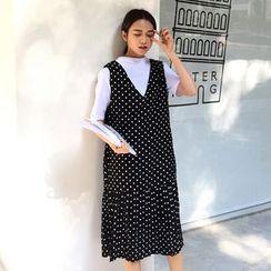 CosmoCorner - Dot Loose-Fit Tank Dress