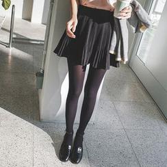 mimi&didi - Inset Shorts Pleated Mini Skirt