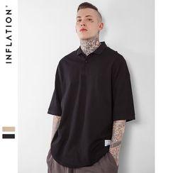 Newin - Elbow-Sleeve Plain T-Shirt