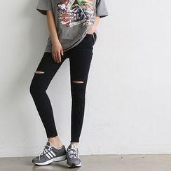 NANING9 - Cutout Skinny Pants