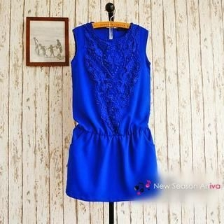 JVL - Sleeveless Lace-Front Dress