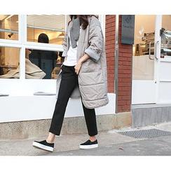 MARSHMALLOW - Open-Front Midi Puffer Jacket