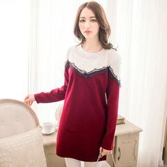 Tokyo Fashion - Long-Sleeve Color-Block Tunic Dress